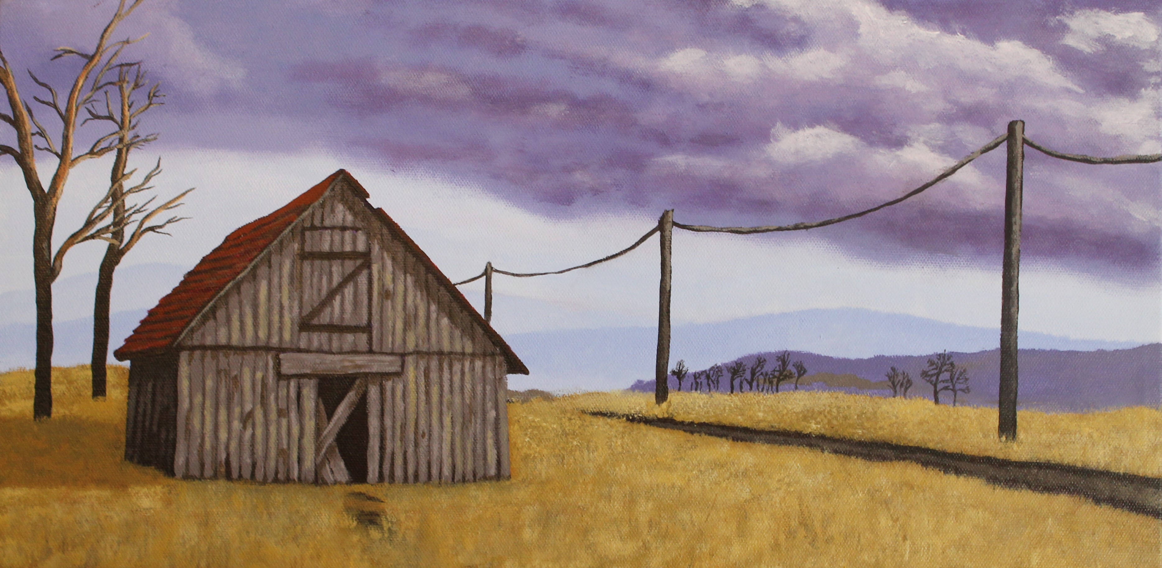 Old Barn Painting
